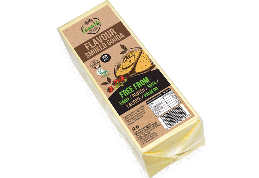 Vegan Cheese Dairy-Free Smoked Gouda flavour cheese package 2.5kg