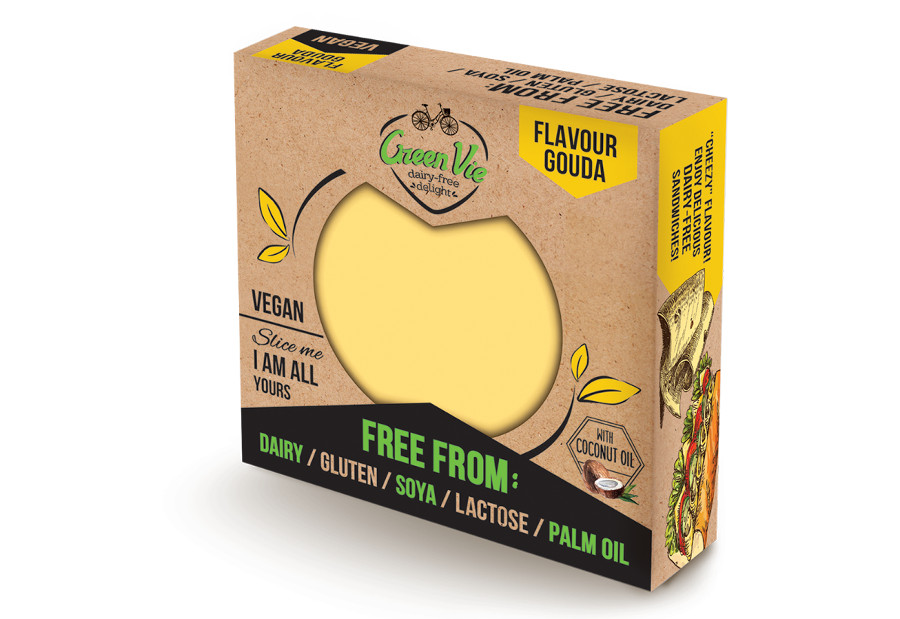 Vegan Dairy-Free Gouda flavour cheese package 250g