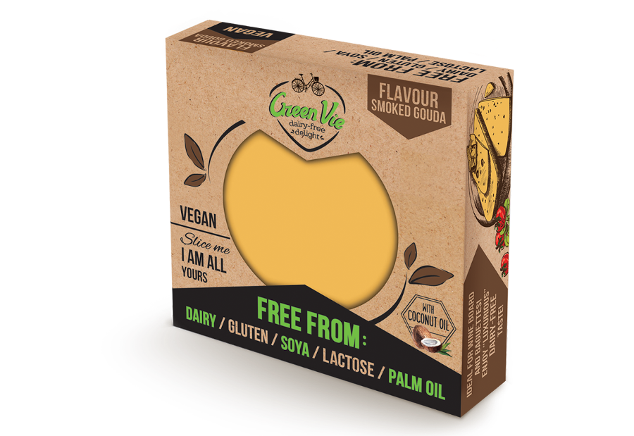 Vegan Dairy-Free Smoked Gouda flavour cheese package 250g