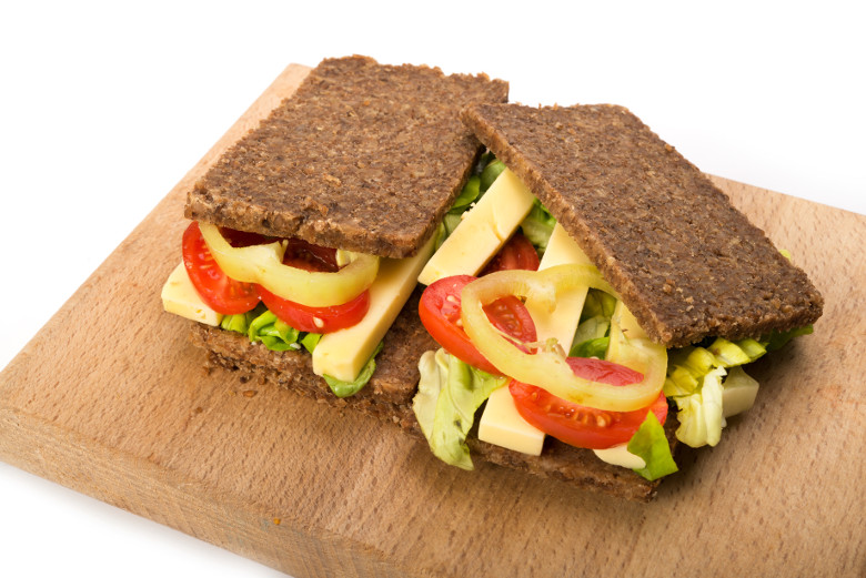 Vegan Dairy-free Plant Based Diet Sandwich with Gouda Flavour Cheese